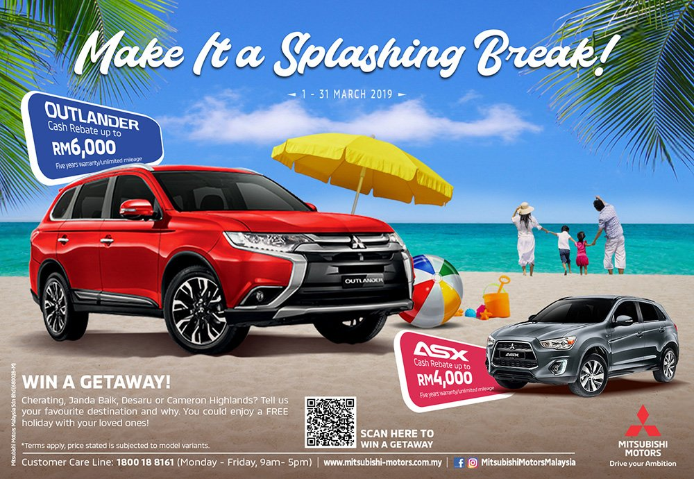 Buy a New Mitsubishi Outlander  or ASX and Stand to Win a Holiday!