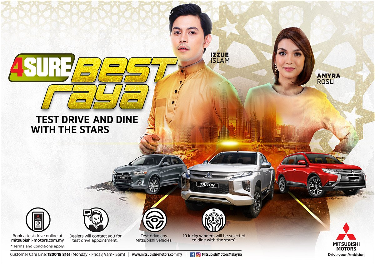 Test Drive any Mitsubishi Car this Raya and Dine with the Stars