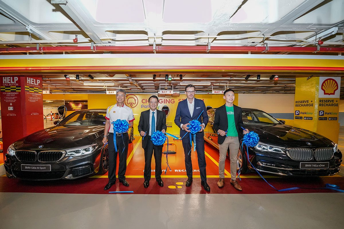BMW Group Malaysia Partners with ParkEasy, Shell Malaysia and Sunway Group to Introduce New Reserve + Shell Recharge Bays.