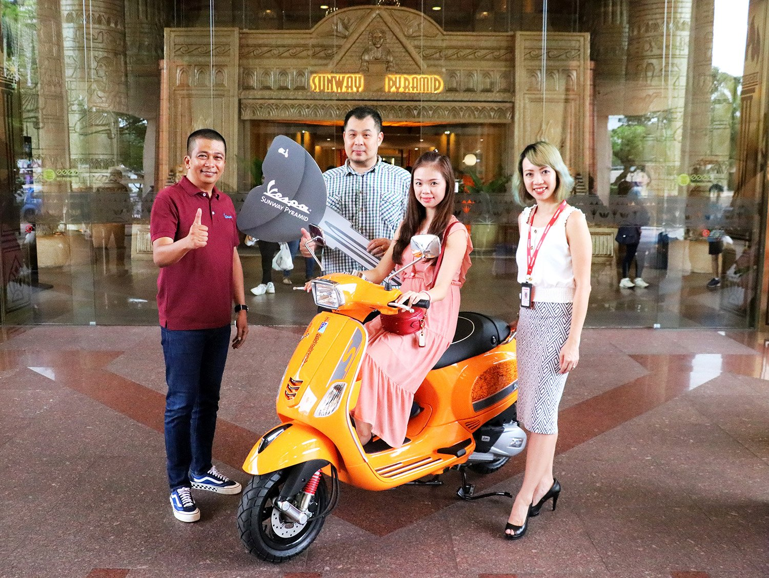 LUCKY PARTICIPANT WINS ONE-OF-A-KIND VESPA!
