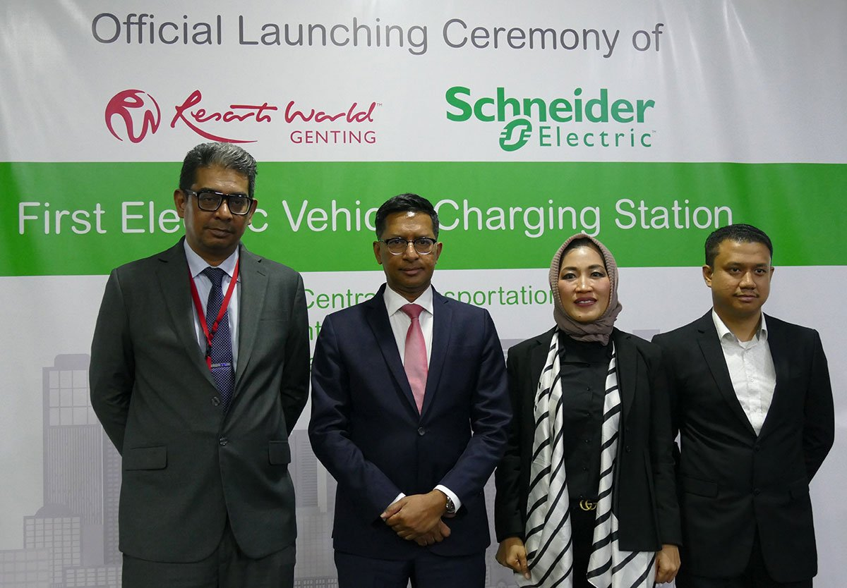 Schneider Electric Malaysia and Resorts World Genting Launched its First Electric Vehicle Charging Station at Awana SkyCentral Transportation Hub