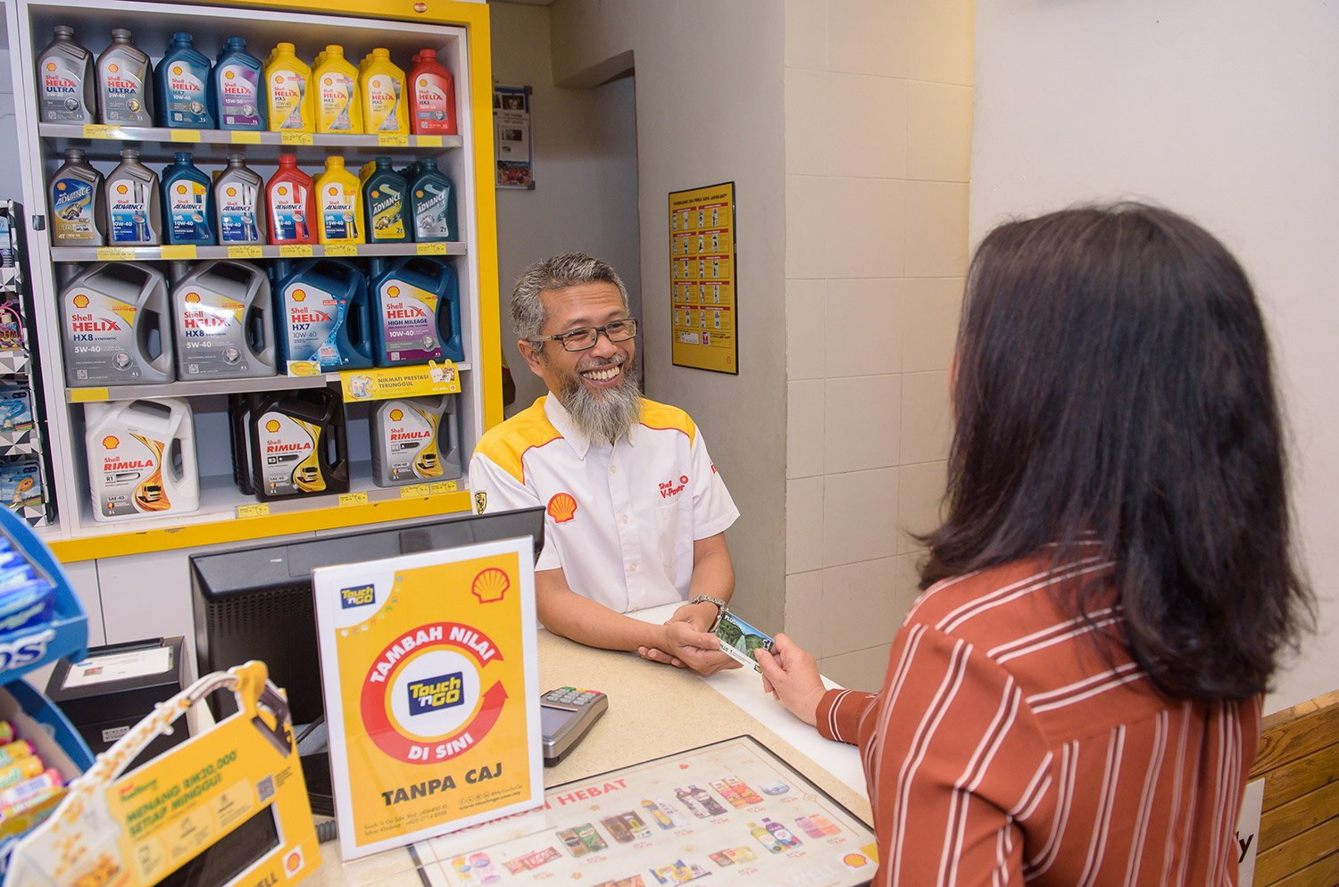 TOUCH 'N GO TOP-UP CHARGES WAIVED AT ALL SHELL STATIONS ALONG THE PLUS AND EAST-COAST EXPRESSWAYS